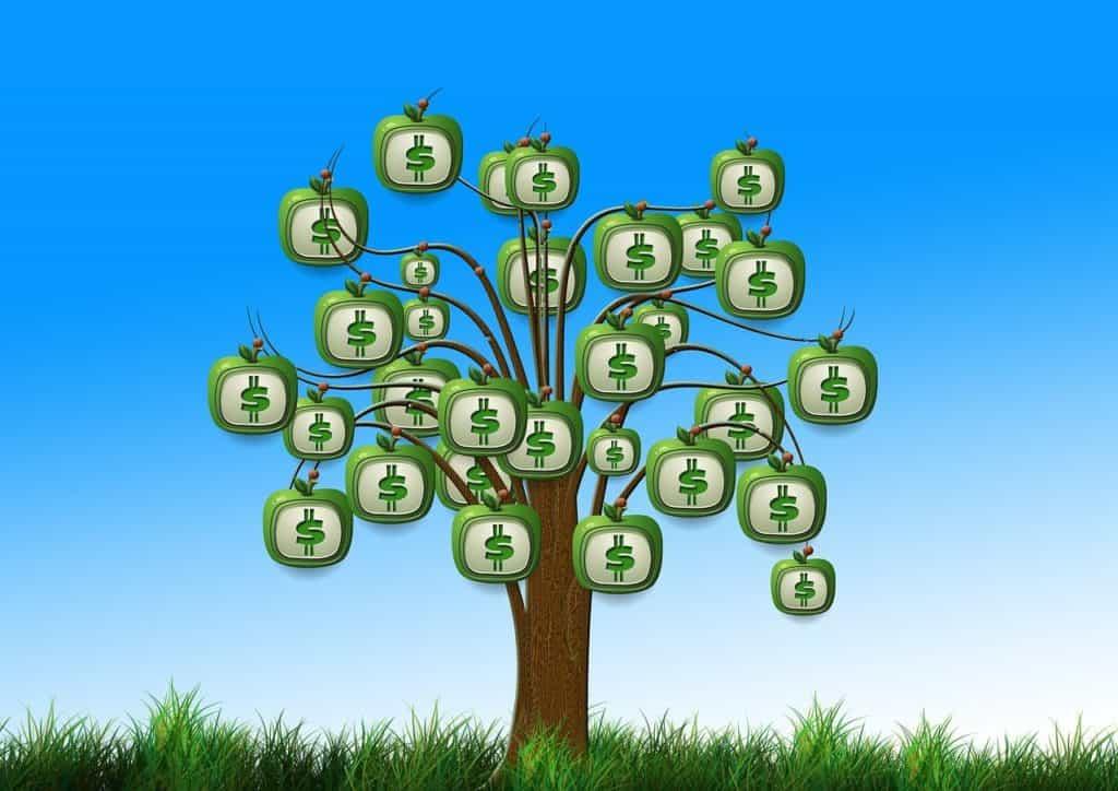 עץ עם כסף - אילוסטרציה
